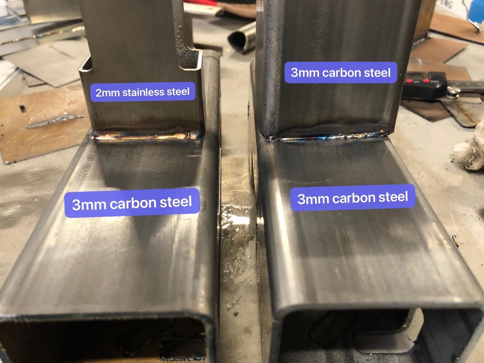 welded fiber and carbon steels