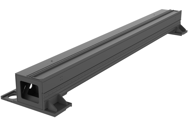 To show the aviation-grade high-strength aluminum alloy beams,